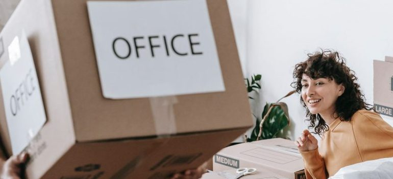 """a box labeled """"office"""""""