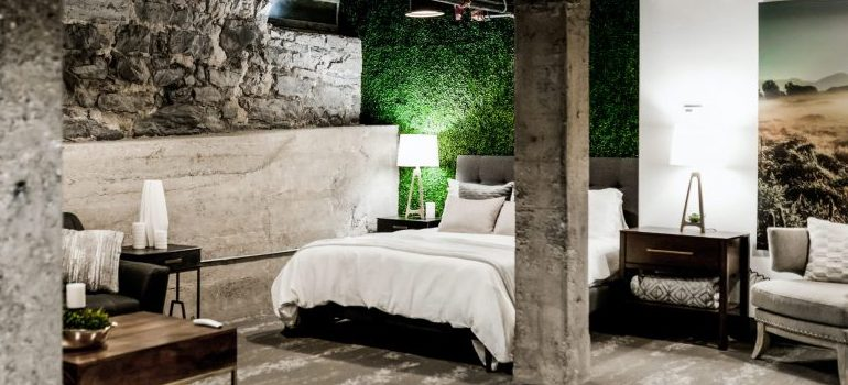 a bedroom, signifing one of the ideas to remodel your basement