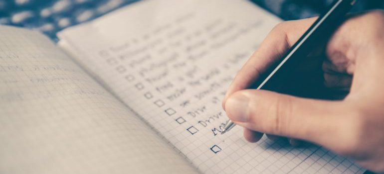 a to-do list to check on post-move paperwork
