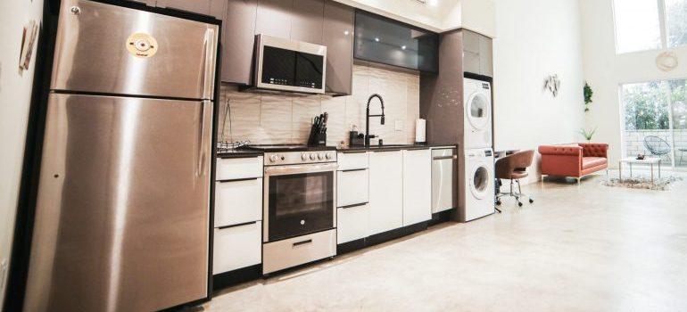 a large kitchen