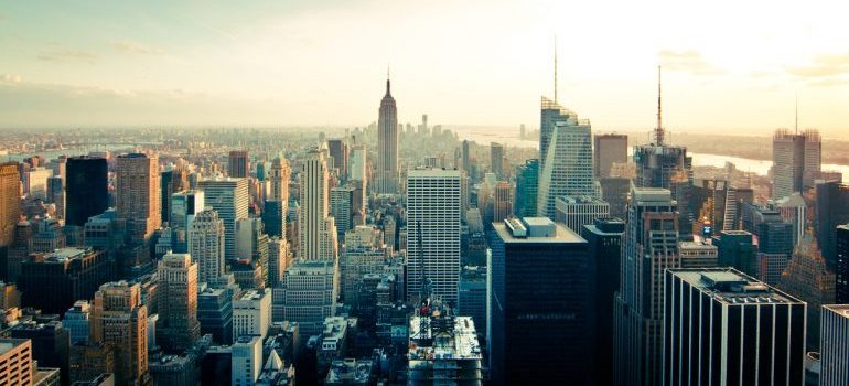 a view of NY, home of commercial movers NY