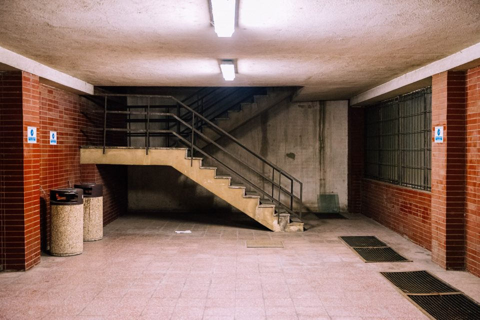 stairs leading to a basement