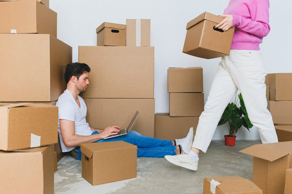 people packing a household
